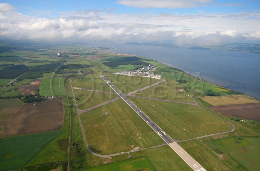 aerial photography scotland inverness airport