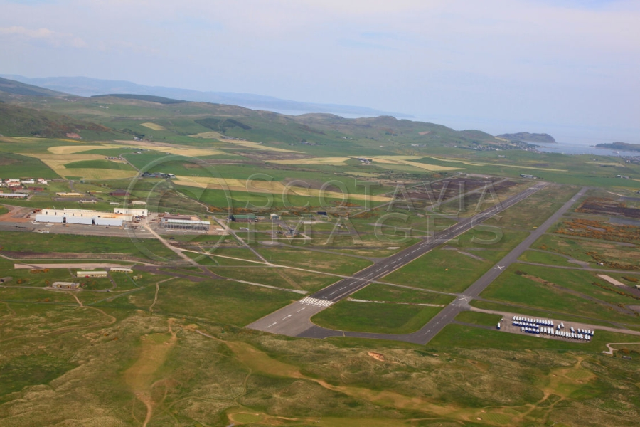 scorrith scenery aerial photography scotland airport cambeltown
