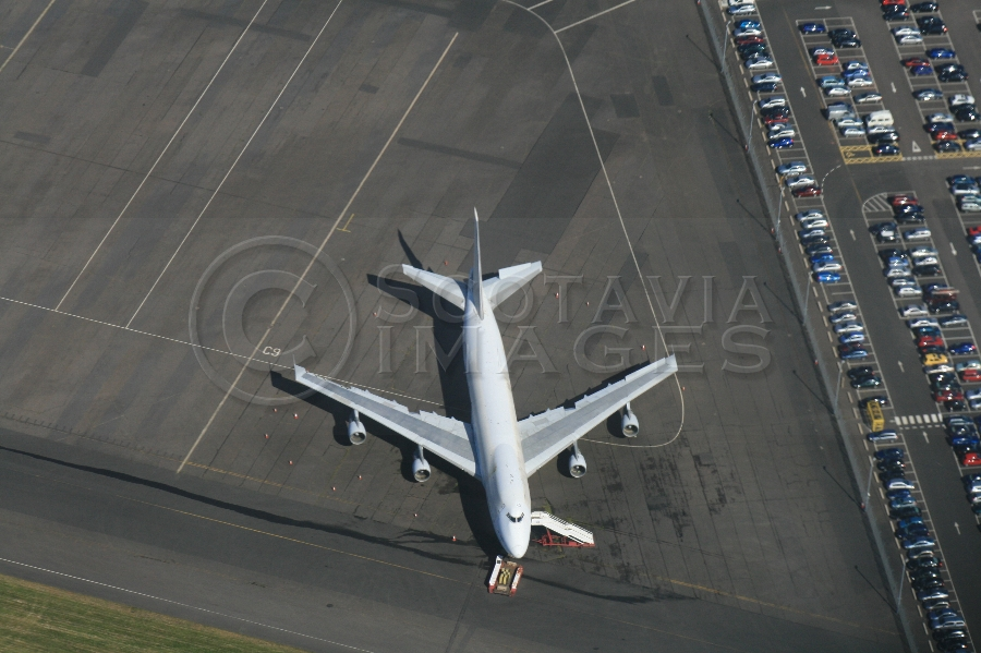 Aerial photography scotland Boeing 747