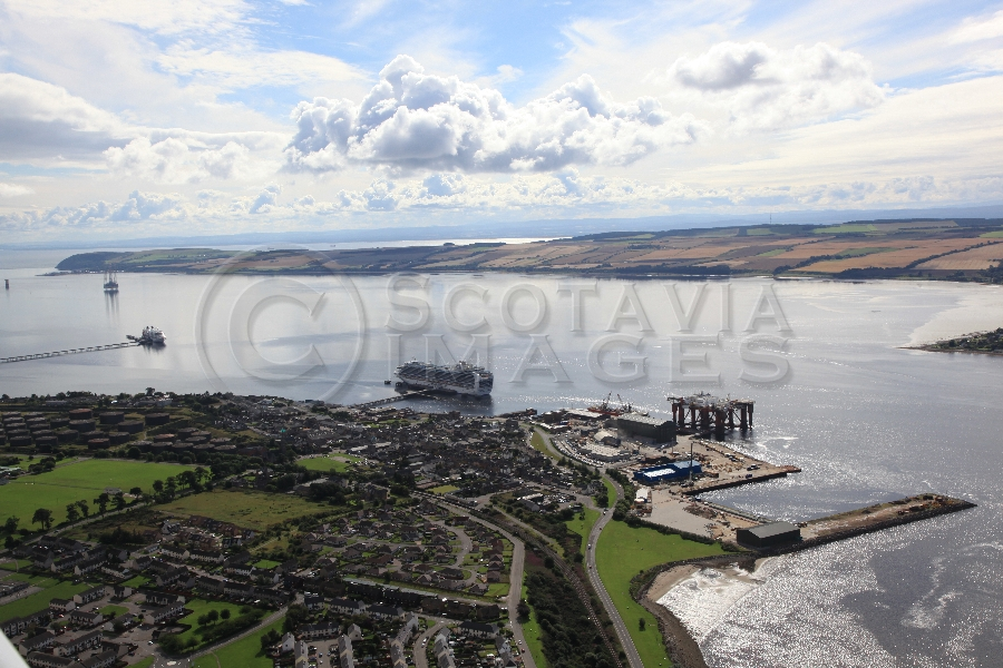 aerial photography scorland scottish scenery Invergordon