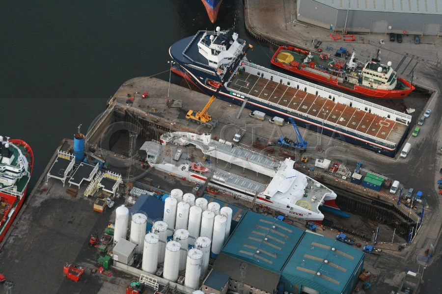 aerial photography scotland Pentalina ferry