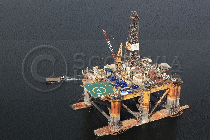 Aerial photography Scotland rig JW Maclean oil platform