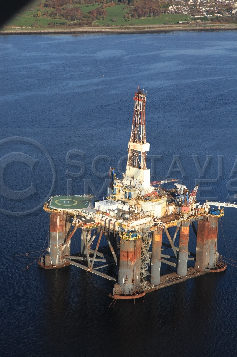 Aerial photography Scotland oil rig platform Sedco 712