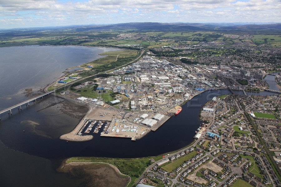 aerial photography scotland Inverness port
