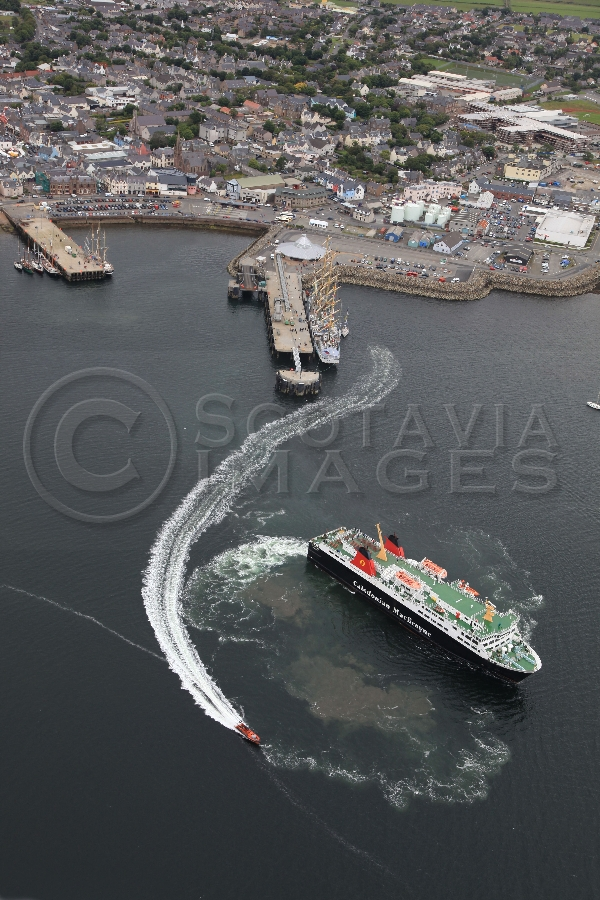aerial photography scotland Isle of Lewis ferry