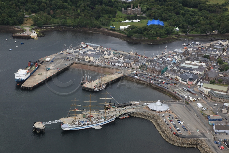 aerial photography scotland tallship mir