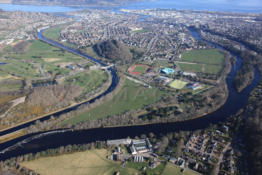 aerial photography scotland scottish scenery Inverness bught