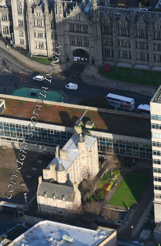 Aerial photography Scotland Aberdeen Provost Skenes House