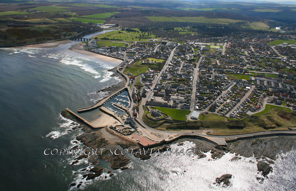 Aerial photography Scotland Banff