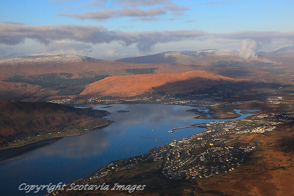 Aerial photography Scotland Fort William from the South