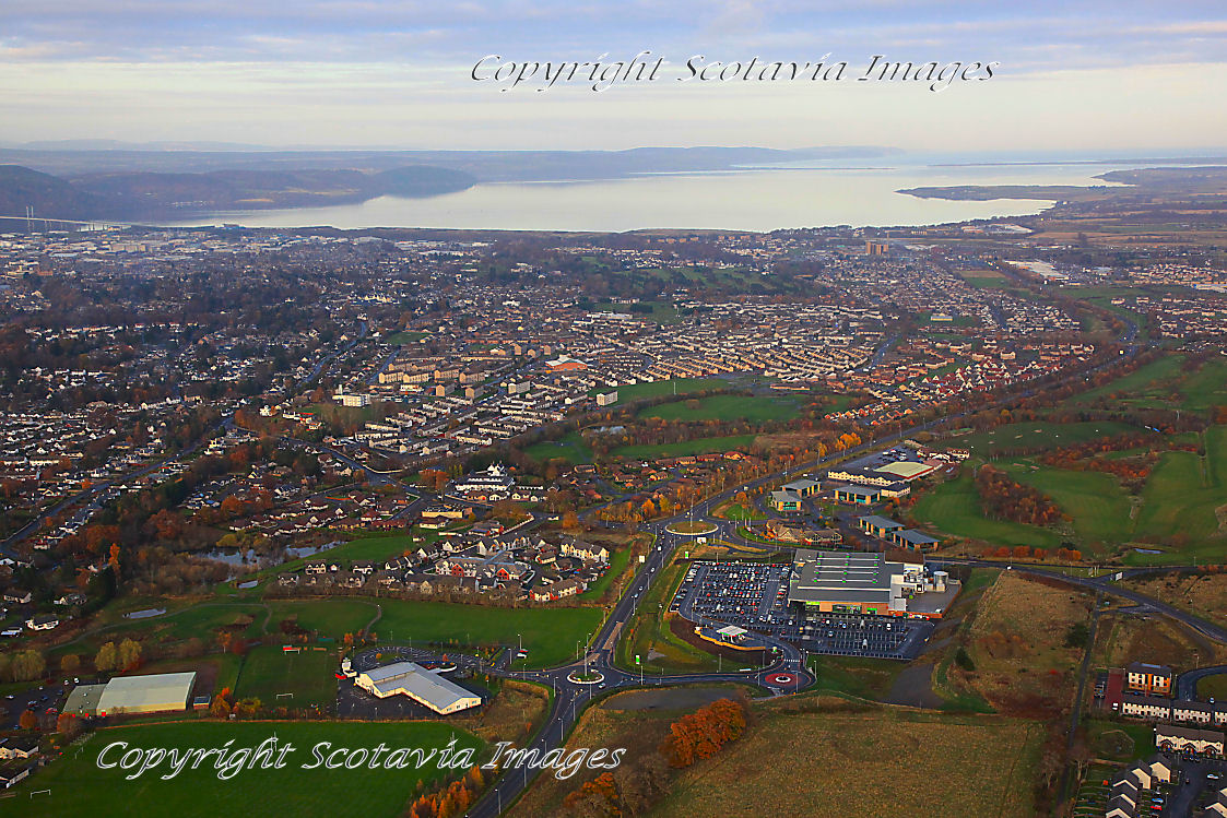 Aerial photography scotland Inverness
