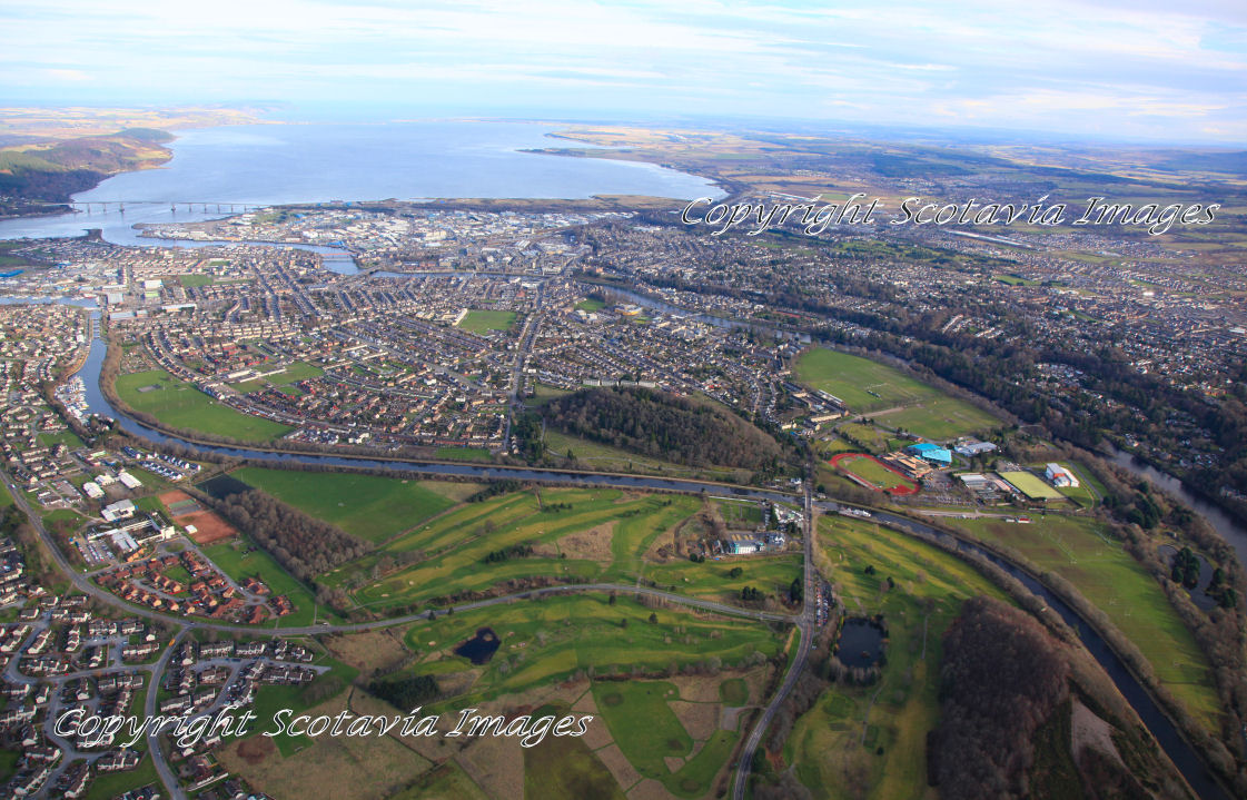Aerial photography Scotland  Inverness looking East