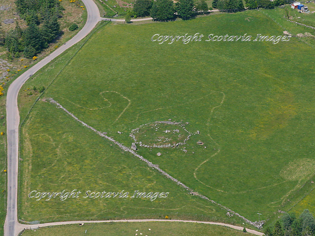 Aerial photography Scotland Scottish scenery Gask Ring Cairn