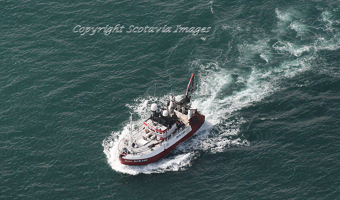 Aerial photography Scotland Fishing vessel Deeeside BCK395