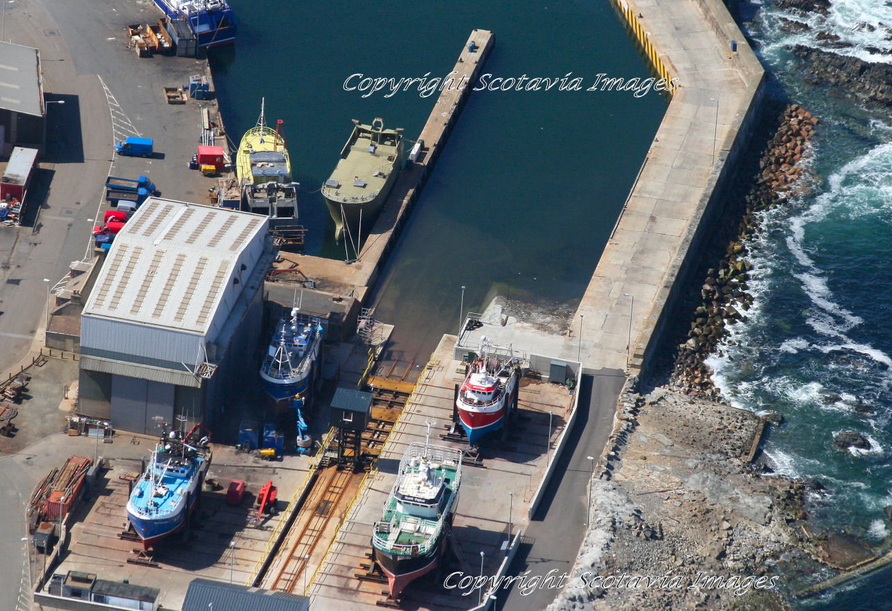Aerial photography Scotland  Macduff shipyard