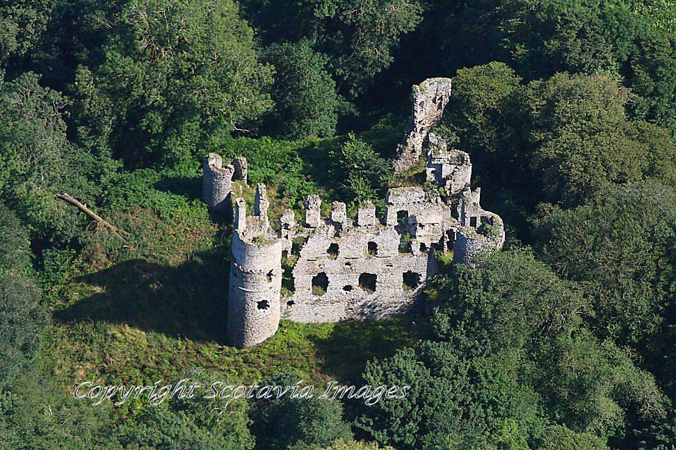 Aerial photography Scotland Boyne castle August 2013