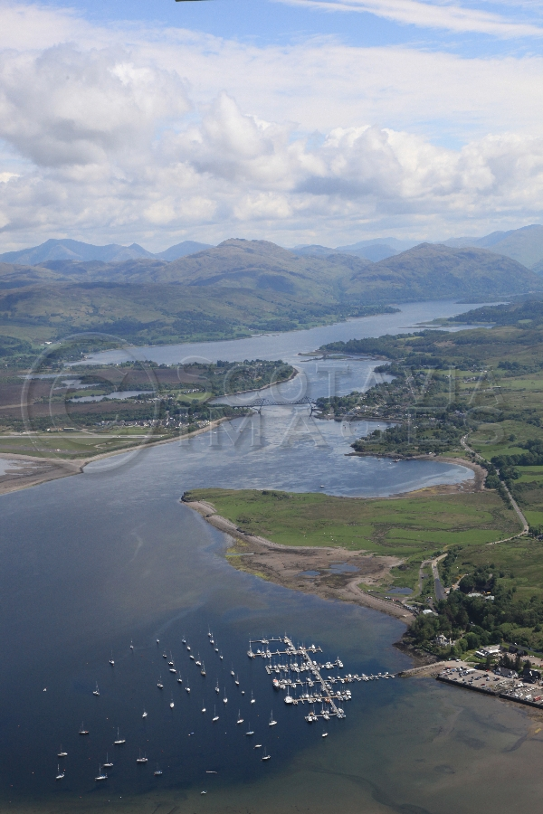 aerial photography scotland scottish scenery Loch Etive Connel