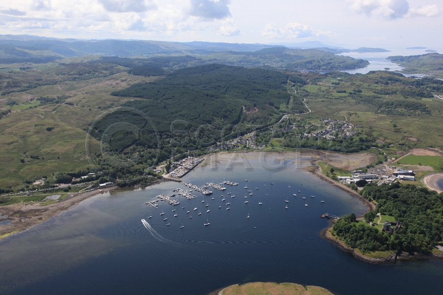 aerial photography scotland scottish scenery Dunstaffnage Bay