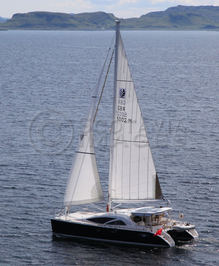 aerial photography scotland yacht