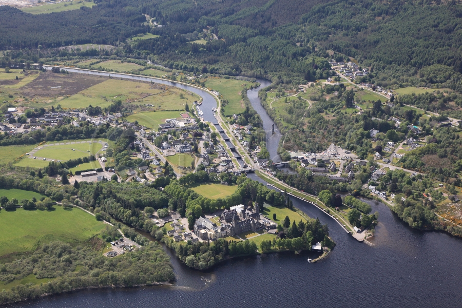aerial photography scotland scottish scenery fort augustus