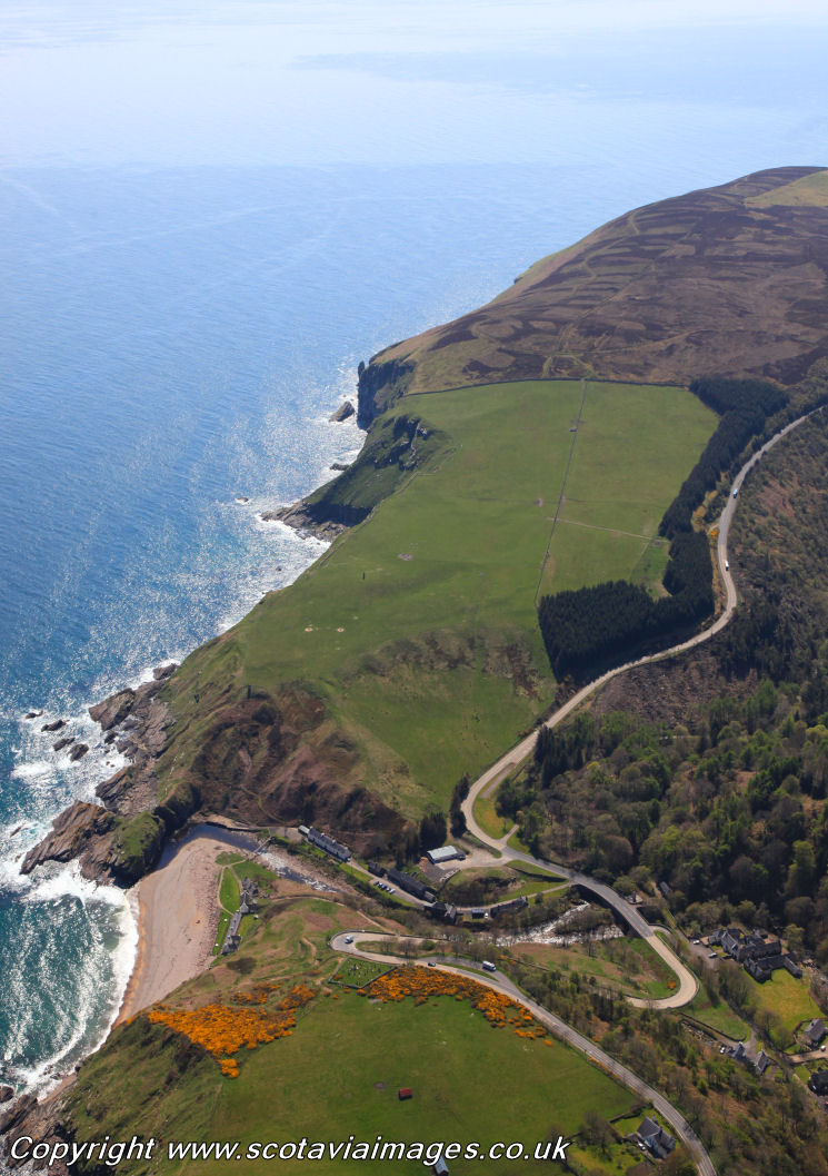 Scottish scenery ,Aerial photography Scotland,Berriedale Braes