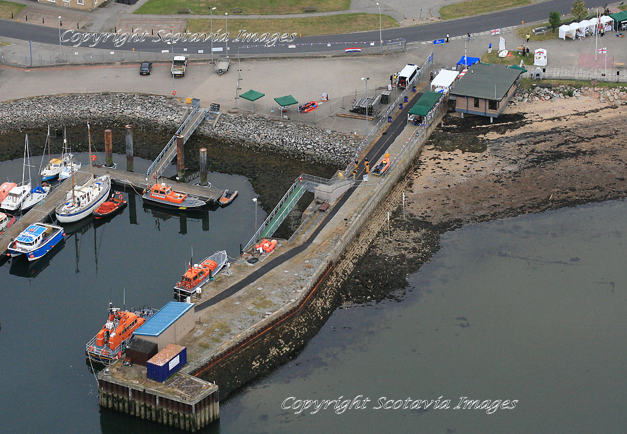 Aerial photography Scotland  Invergordon lifeboat and pilot boats