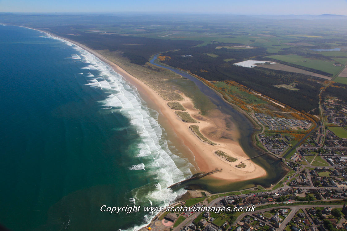 Scottish scenery ,Aerial photography Scotland,Lossiemouth,Lossiemouth East beach