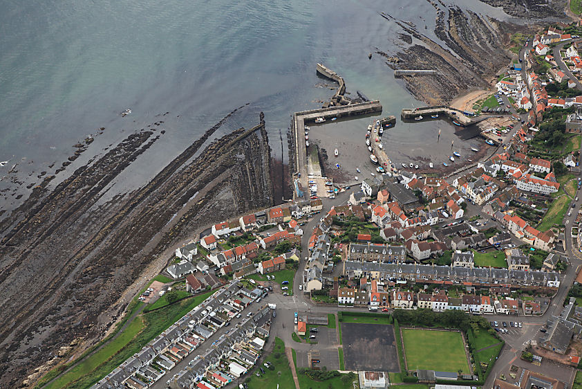 Aerial photography Scotland St.Monans Fife