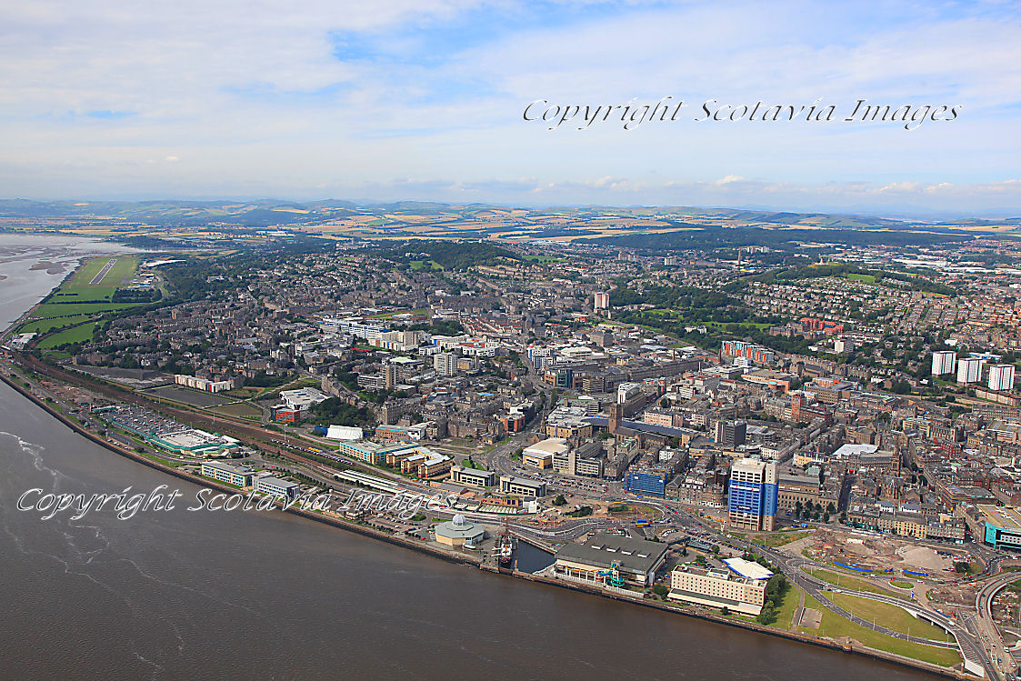 Aerial photography Scotland Dundee city Aug2012