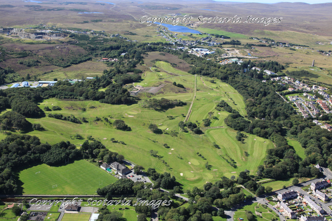 Aerial photography Scotland Stornoway golf course