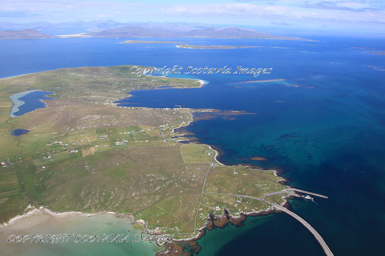 Aerial photography Scotland Scottish scenery Berneray and the Sound of Harris
