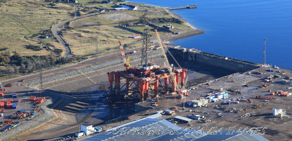 Aerial photography Scotland Nigg dock Borgsten Dolphin Nov 20 12