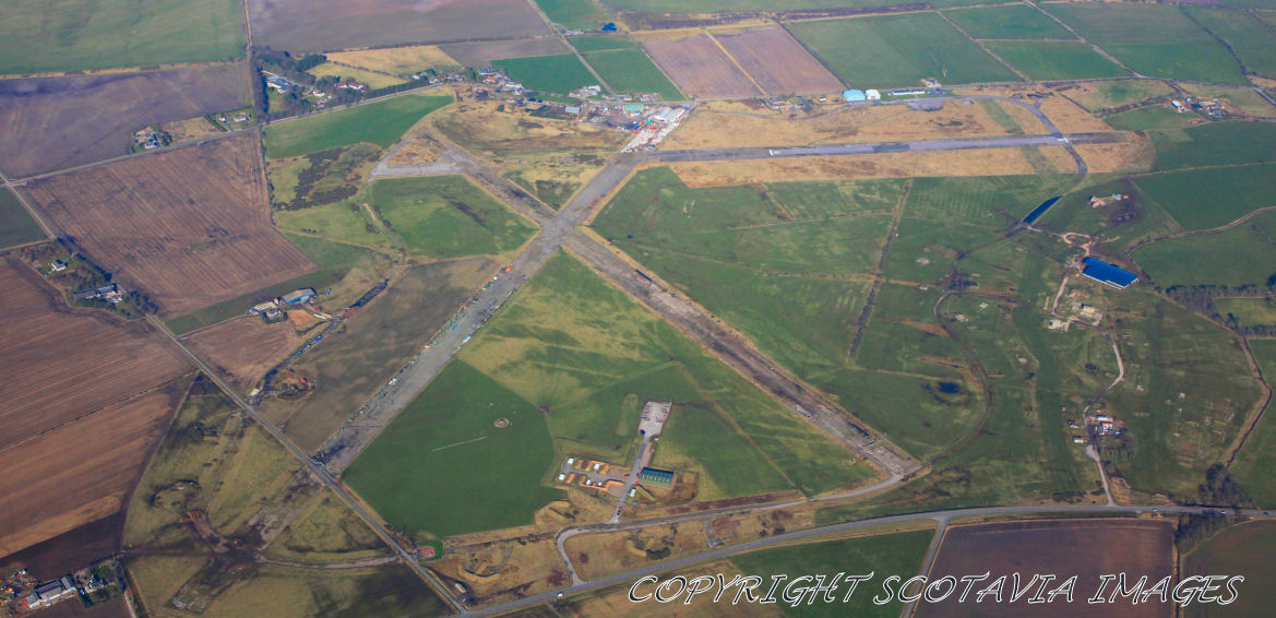 Aerial photography Scotland  Longside airfield Peterhead