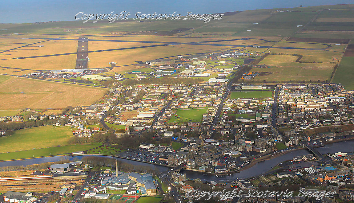 Aerial photography Scotland Wick and airport