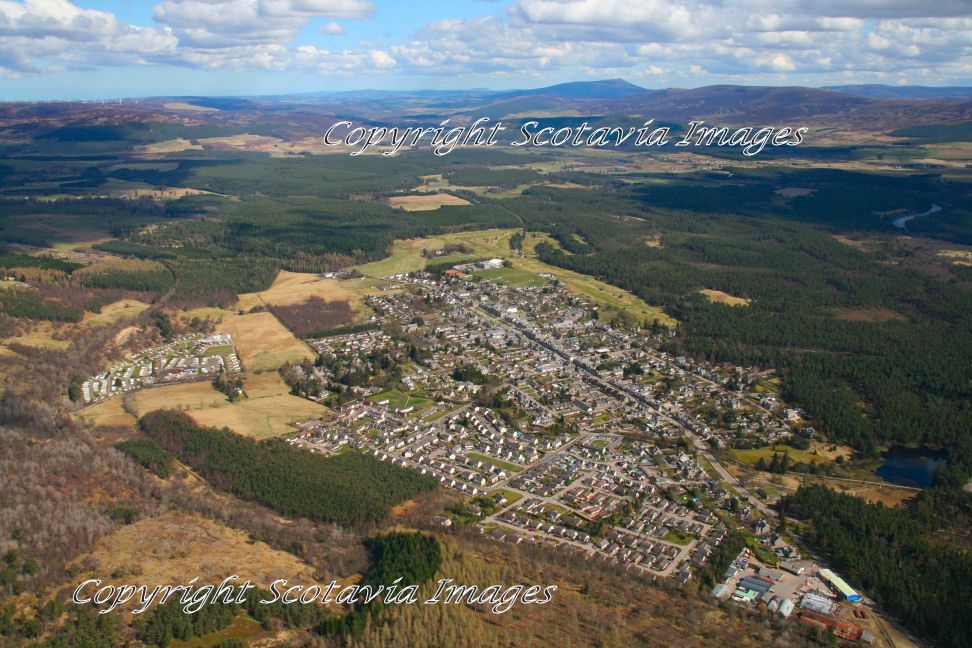 Aerial photography Scotland  Grantown on Spey