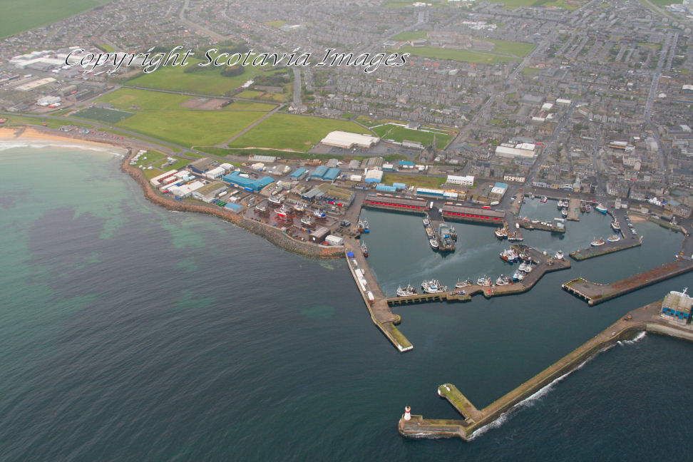 Aerial photography Scotland  Fraserburgh harbour 2009