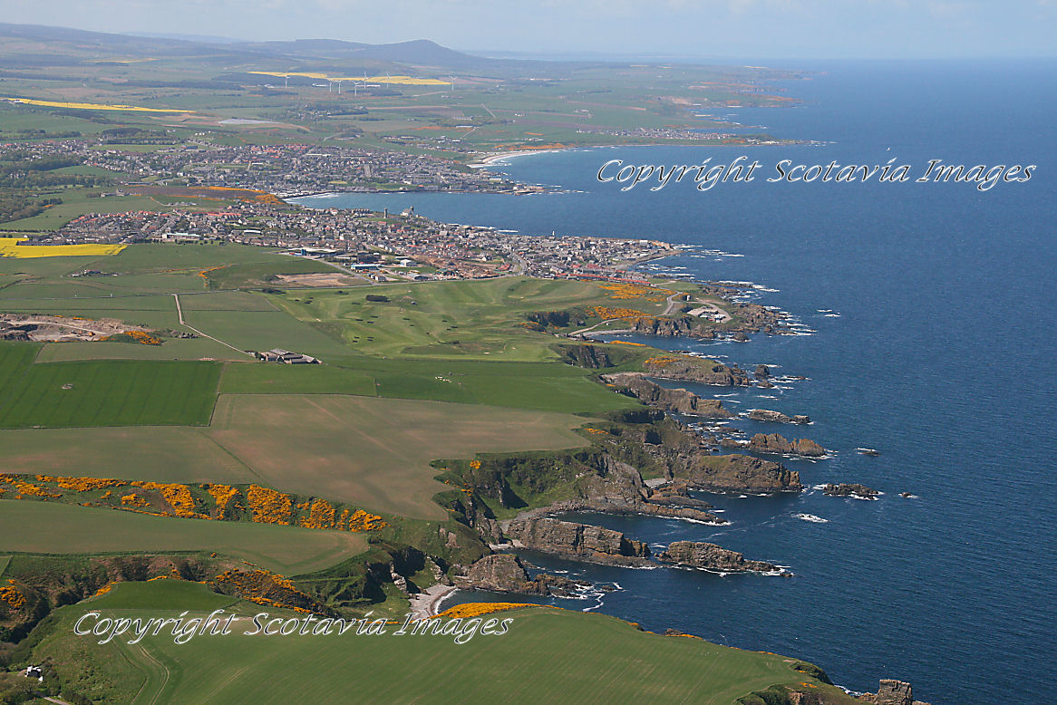 Aerial photography Scotland  Macduff and Banff looking West