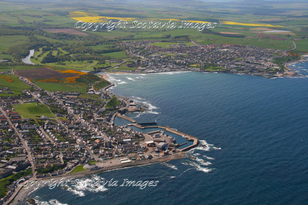 Aerial photography Scotland  Macduff and Banff.
