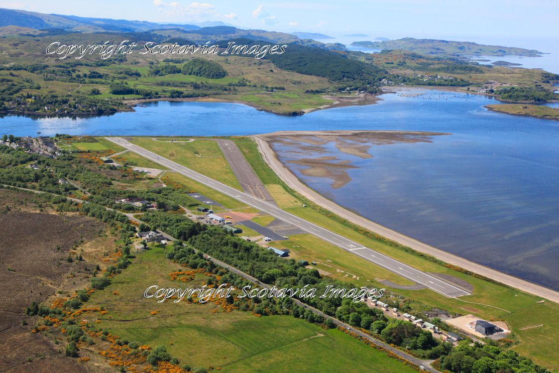 Aerial photography Scotland  Oban Connel  airport