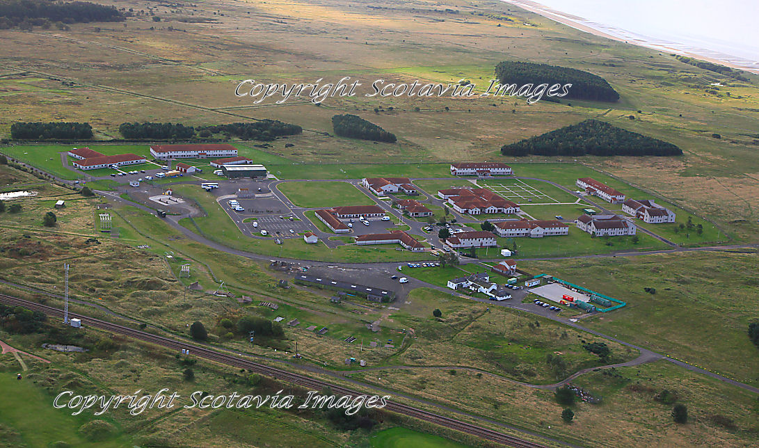 Aerial photography Scotland  Barry Buddon Commonwealth games venue