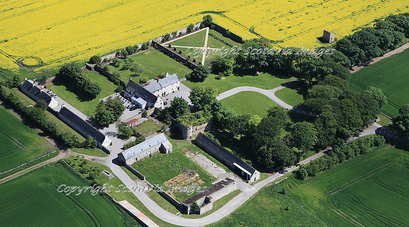 Aerial photography Scotland  Glenmorangie House and castle