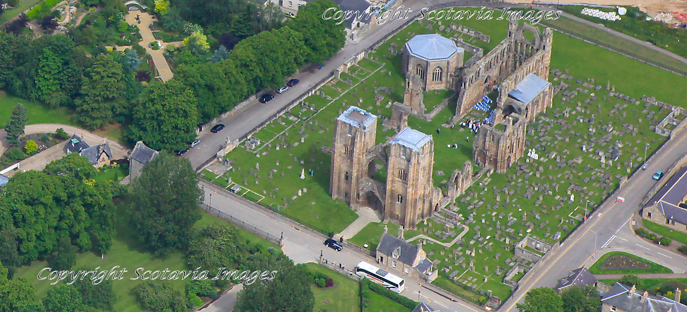 Aerial photography Scotland Elgin cathedral wedding June 2013