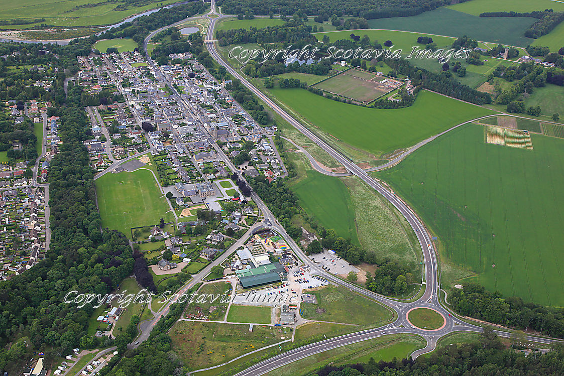 Aerial photography Scotland Fochabers 2013