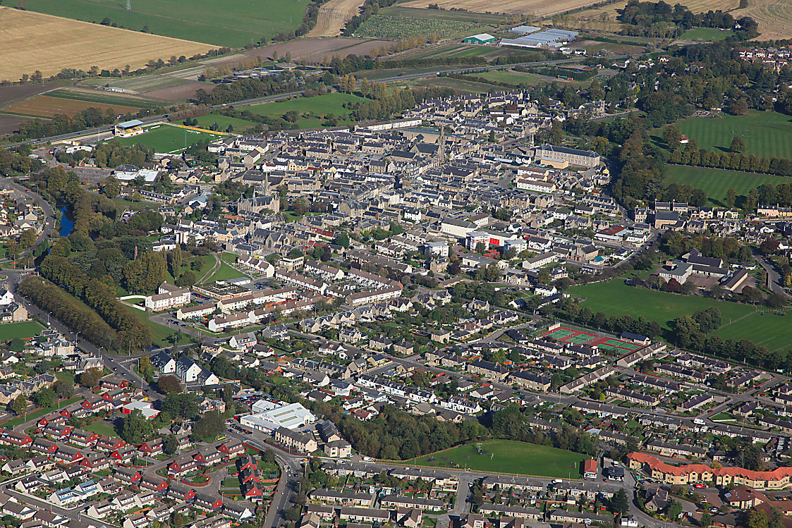 Aerial photography Scotland  Forres B