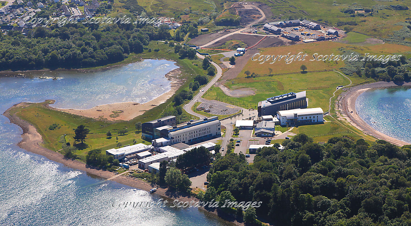 Aerial photography Scotland Scottish scenery Dunstaffnage Marine Labs