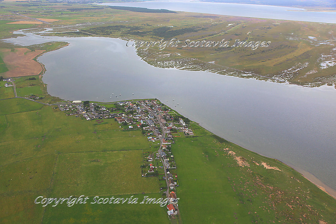 Aerial photography Scotland Inver East of Tain