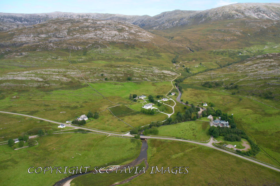 Aerial photography Scotland Scottish scenery Inchnadamph