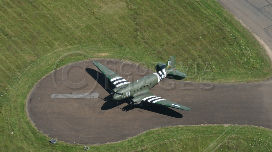 aerial photography scotland dakota plane