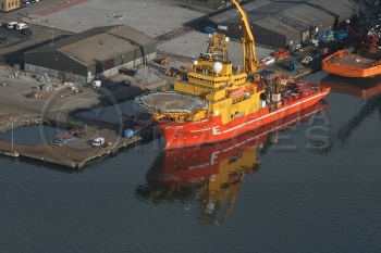 Aerial photography Scotland ship Subsea Viking CFPA oil support