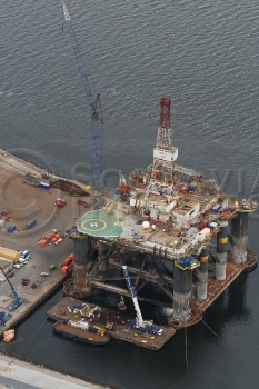 Aerial Photography Scotland Sedco 706 Oil Platform Rig